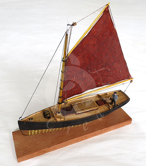 boston prawner - a model made in hampshire by tim Bicheno brown